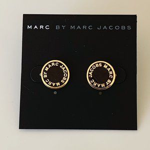 Marc Jacobs black gold signature earrings